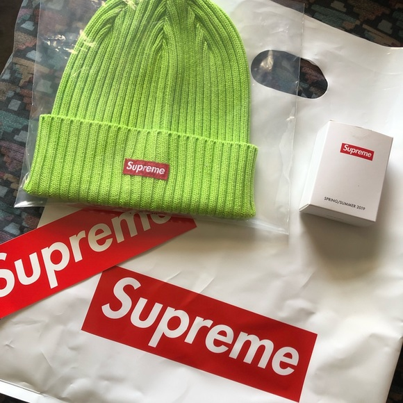 fc9194ff4 Supreme Overdyed beanie - Lime Green - SS19 NWT